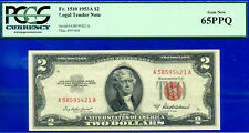 1953-A $2 US Note (( 6 of 6 Consecutive )) PCGS Gem 65PPQ # A58595421A