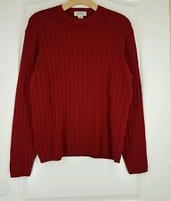 J. CREW Dark Red Size XL Cotton Heavy Warm Crewneck Sweater Excellent