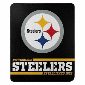PITTSBURGH STEELERS Blanket Fleece Throw NFL Split Wide Style NEW NWT