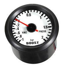 "Black Shell 2"" 52mm Car Universal LED Bar Turbo Boost Vacuum Gauge Meter"