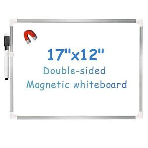 VIZ-PRO Magnetic Dry Erase Board Aluminum Frame Drawing Board Writing Whiteboard