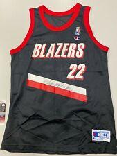 Clyde Drexler Signed JSA Trail Blazer Jersey