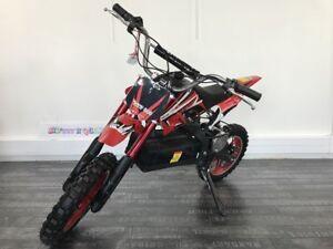 Dirt Bike ZZZ 800 Moto Cross électrique quad 36V 800W  35km/h rapide sécurisée
