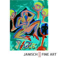 ELVIRA BACH - Farbsiebdruck, handsigniert, Auflage 85, 1982/1983 - 65 x 50 cm !