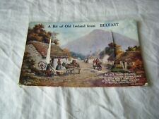 Vintage Postcard, A Bit of Old Ireland from Belfast, Valentine's, Fold out Views