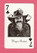 Wayne Rostad On The Road Again TV Vintage Canadian Country Music Playing Card