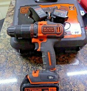Black And Decker BCD700S1K 2 Gear Hammer Drill 18V 1 x 1.5Ah Battery & Charger
