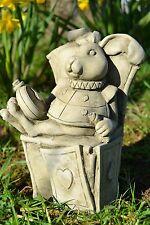 Alice's Adventures in Wonderland Stone Garden Ornament (White Rabbit)