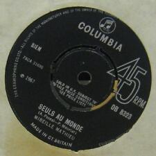 "Mireille Mathieu(7"" Vinyl)Seuls Au Monde-Columbia-DB 8323-UK-VG/VG"