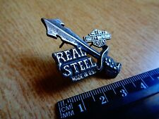 Harley Davidson REAL STEEL Motorcycle Pin Sword Factory Badge HD Vest Jacket Hat