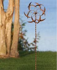 Garden Yard Spinner Copper Wind Outdoor Art Kinetic Energy Sculpture Pinwheel