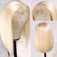 Short Straight Bob Lace Front Wigs Blonde Malaysian Virgin Human Hair Wig Women