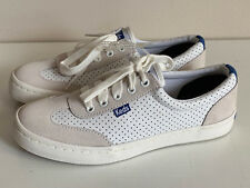 f8c87f75866 NEW! KEDS ORTHOLITE TOURNAMENT PERFORATED WHITE LEATHER SHOES SNEAKERS 6 36  SALE