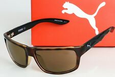 NEW PUMA SUNGLASSES PU0009S 003 Sport Havana/Black frame / Brown lens MSRP $100