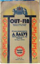1927 TOUT POUR FIAT 15 CV M2 - 20 CV 15 TER - 18BL CATALOGUE DE PIECES SALVI