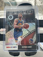 2019-20 NBA Hoops Premium Stock-Stephen Curry-Lights Camera Action-SILVER Prizm