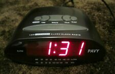 PAVY LED MP3/AM/FM ALARM CLOCK RADIO, EXCELLENT WORKING CONDITION, NEEDS BATTERY