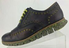 Cole Haan Zerogrand Wingtip Oxfords Purple Leather Casual Brogue Shoes Mens 8 M