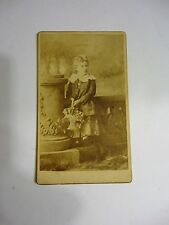 Antique Vintage photograph photo Girl - late 1800's L. Bergman Louisville, KY