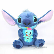 """Lovely Lilo Stitch with SCRUMP Plush Doll 24cm 9.6"""" Soft Stuffed Toy Loose New N"""