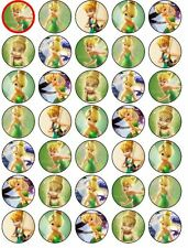 Tinkerbell 30 x 3.5cm Edible WAFER Cupcake toppers PRECUT