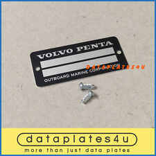VOLVO DATA PLATE BOAT MARINE OUTBOARD COMPANY SMALL SERIAL ID TAG MOTOR MODEL