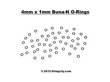 4mm ID x 1mm CS Metric O-Rings 25pcs Buna-N 70Duro Hydraulics/Pneumatics O-Rings