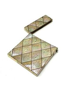 Fantastic Antique Victorian Mother of Pearl Large Card Case #1118