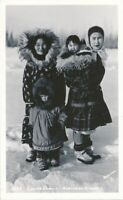 ALASKA AK - Northern Alaska Eskimo Family Real Photo Postcard rppc