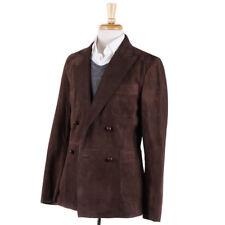 NWT $4295 BOGLIOLI Chocolate Brown Suede Leather Blazer S (Eu 48) Jacket
