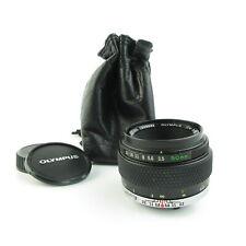 Olympus OM Zuiko Auto-Macro 1:3.5 50mm Objektiv lens + caps und case