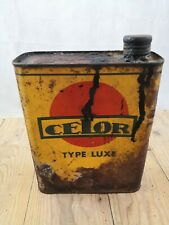 Bidon huile celor type luxe/2 Litres/huile pour auto/old oil can dose