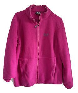 Jack Wolfskin Pink Full Zip Fleece Jacket Coat 16 18 20 VGC