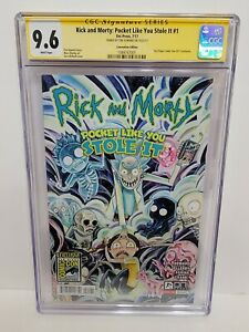 RICK & MORTY: POCKET LIKE YOU STOLE IT #1 CGC 9.6 SS TINI HOWARD SAN DIEGO EXCL.