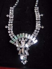 Vintage Elegant Rhinestone's with Silver Tone Necklace