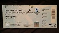 VANCOUVER 2010 WINTER OLYMPIC GAMES - SNOWBOARD PARALLEL GS WOMENS