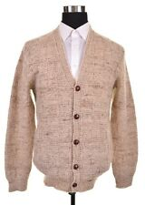 USA Pendleton Cream Beige Knitted Wool Button Front Chunky Cardigan Sweater M