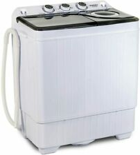 26LBS Compact Portable Washing Machine Twin Tub w/ Drain Pump Spiner Dryer Grey