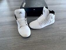 Supra Kids Atom White High Top Skate Shoes Size Big Boy 6 M With Box