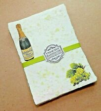 Handmade Paper Sheets - 9 sheets -Wine and Cheese (861) Free Shipping