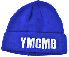 NEW YMCMB YOUNG MONEY men/women casual fashion BEANIE hat BLUE/SILVER *ONE SIZE