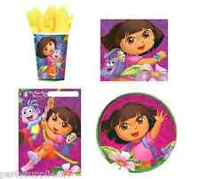 Dora The Explorer Party Supplies PARTY PACK Of 40 Disposable Tableware Genuine