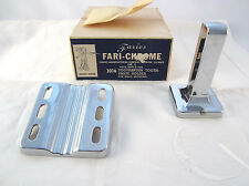 Vintage Mid Century Faries Chrome Toothbrush & Toothpaste Holder - New