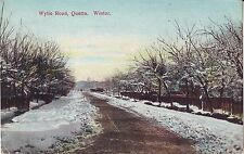 Pakistan UK Quetta - Wylie Road in Winter old used not mailed postcard