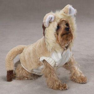 Lion Mane Plush DOG Pet Halloween Lil' Lion Costume Gift Tail VELOUR ROAR XLARGE
