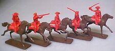 5 British Redcoat Cavalry AIP plastic soldiers #5471