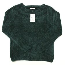 Women's Croft & Barrow Chenille Boatneck Sweater - Highland Green