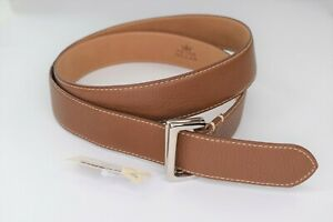 NWT $145 * Peter Millar * Genuine Leather Made in Spain Brown Belt Size L