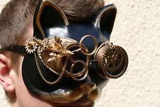 katze,maske.augenmaske,steampunk,halbmaske,goldfarben,fantasy,sci-fi,retro,cat