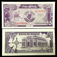 Sudan 25 Piastres 1987 Banknote World Paper Money UNC Currency Bill Note